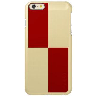 Red and White Rectangles Incipio Feather® Shine iPhone 6 Plus Case