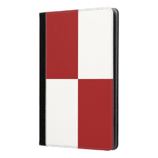 Red and White Rectangles iPad Air Case