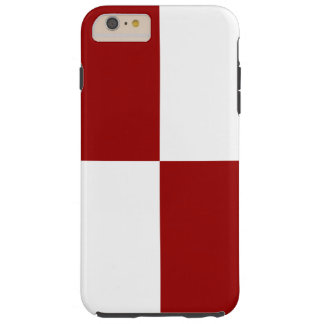 Red and White Rectangles iPhone 6 Plus Tough Case