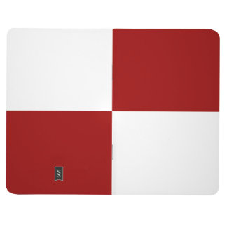 Red and White Rectangles Journal