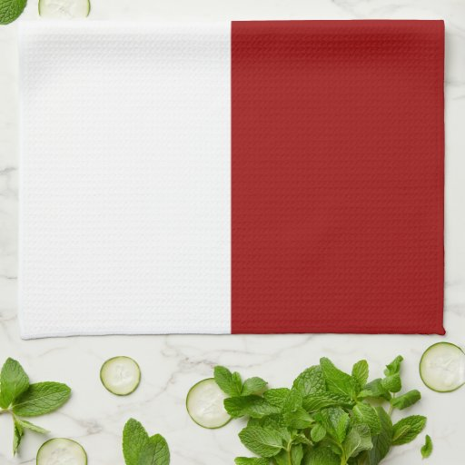 White Kitchen Towel: Red And White Rectangles Kitchen Towels