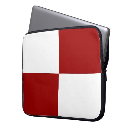 Red and White Rectangles Laptop Sleeve
