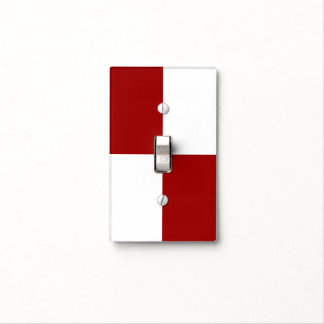Red and White Rectangles Light Switch Cover