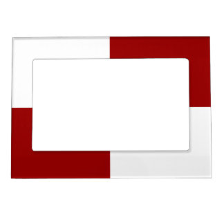 Red and White Rectangles Magnetic Frame