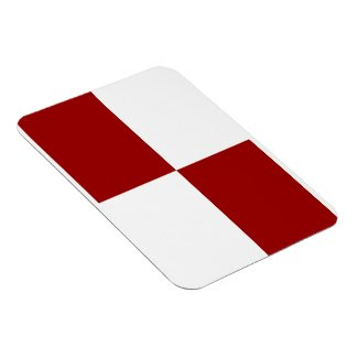 Red and White Rectangles Magnets