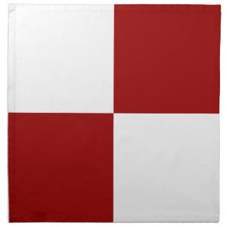 Red and White Rectangles Napkin