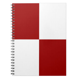 Red and White Rectangles Notebook