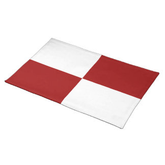Red and White Rectangles Placemat