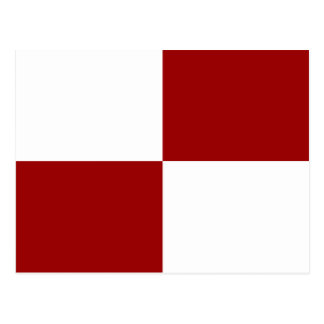 Red and White Rectangles Postcards