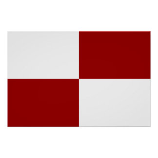 Red and White Rectangles Poster