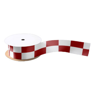Red and White Rectangles Ribbon