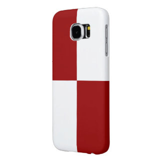 Red and White Rectangles Samsung Galaxy S6 Cases