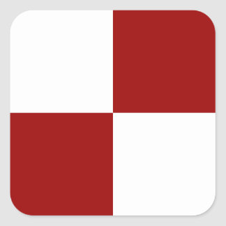 Red and White Rectangles Square Sticker