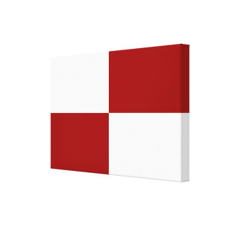 Red and White Rectangles Stretched Canvas Prints