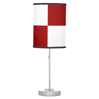 Red and White Rectangles Table Lamp