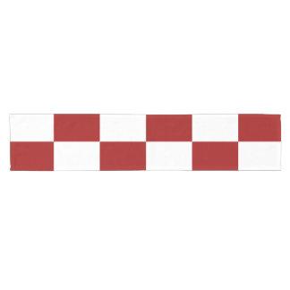 Red and White Rectangles Table Runner Short Table Runner