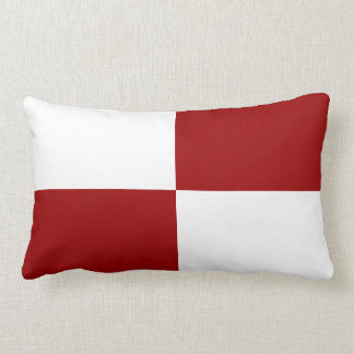 Red and White Rectangles Throw Pillow