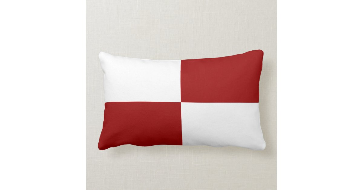 Throw Pillows Red And White : Red and White Rectangles Throw Pillow Zazzle