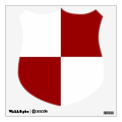 Red and White Rectangles Wall Decal