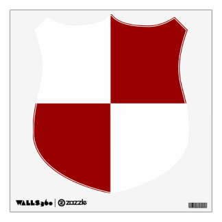 Red and White Rectangles Wall Sticker