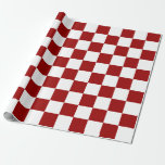 Red and White Rectangles Wrapping Paper