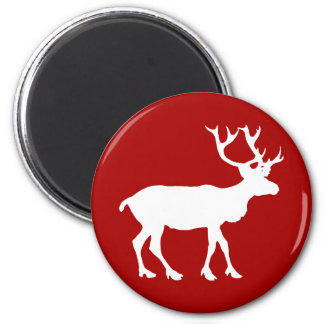 Red and White Reindeer Magnet