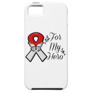 Red and White Ribbon For My Hero iPhone SE/5/5s Case