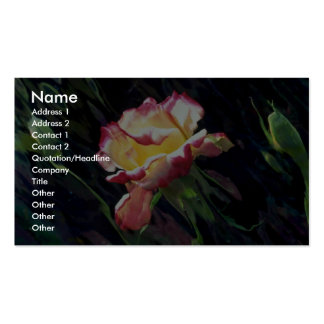 Red and white rose and buds, incandescent water gl Double-Sided standard business cards (Pack of 100)