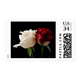 Red and White Rose Stamps