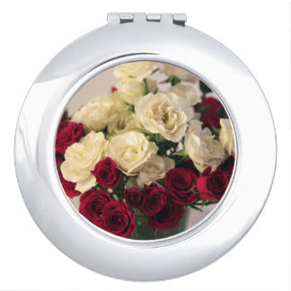 Red and White Rose Vanity Mirror