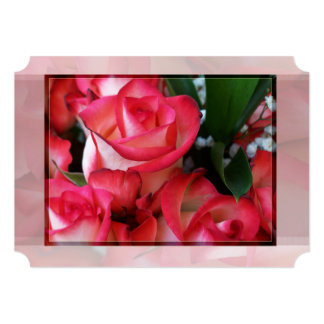 Red and White Roses 1B Card