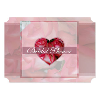 Red and White Roses 1D Bridal Card