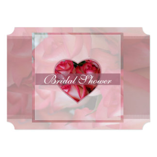 Red and White Roses Bridal 1D Card