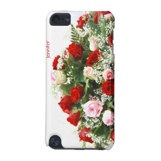Red and White Roses Flower iPod Case