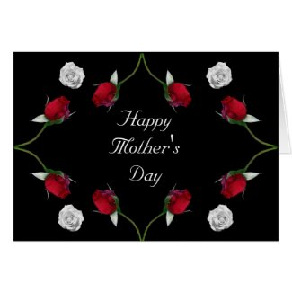 Red and White Roses Mother's Day