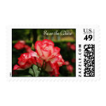 Red and White Roses Postage Stamp