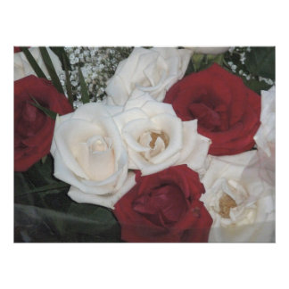 Red And White Roses Print