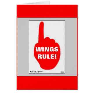 RED AND WHITE RULE CARD