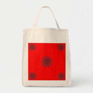 Red and White Secret Mandala Tote Tote Bags