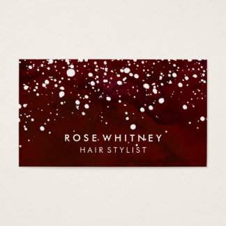 Red and White Snow Creative Business Card
