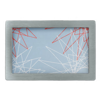 red and white snow. rectangular belt buckle