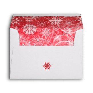 Red and White Snowflakes A7 Envelope for 5x7's