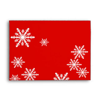 Red and white snowflakes Christmas design Envelope