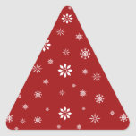 Red and white snowflakes pattern sticker