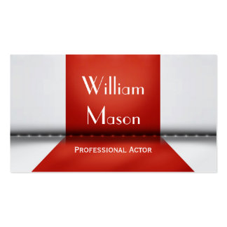 Red and White Stage Actor - Business Card