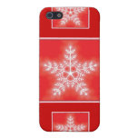 Red and White Star Snowflake iPhone 5 Covers