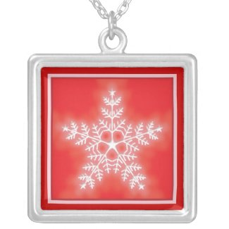 Red and White Star Snowflake