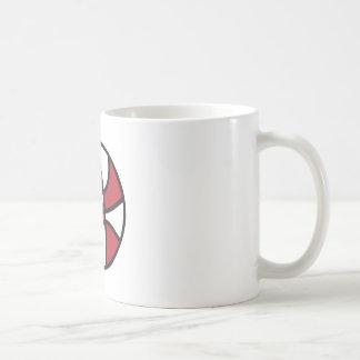 red and white stars basketball coffee mug