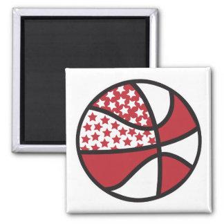 red and white stars basketball fridge magnet