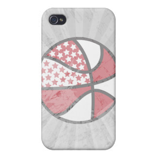 red and white stars basketball iPhone 4 cover
